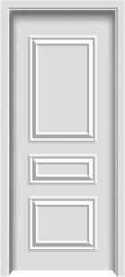 生态欧式木质复合门YW-1009